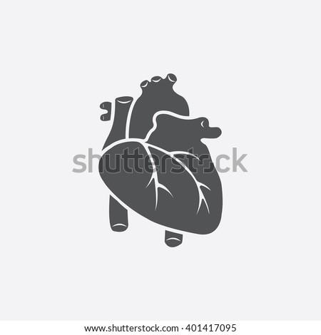 Heart icon. - stock vector