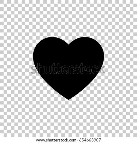 Heart Icon Isolated On Transparent Background Stockvector 654663907