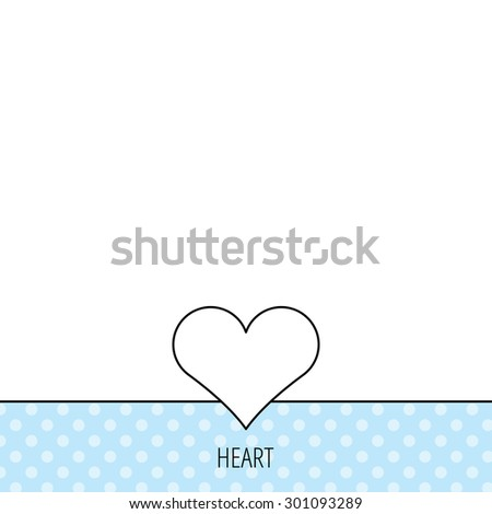 Heart icon. Love sign. Life symbol. Circles seamless pattern. Background with icon. Vector - stock vector
