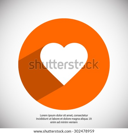 Heart icon. One of set web icons - stock vector