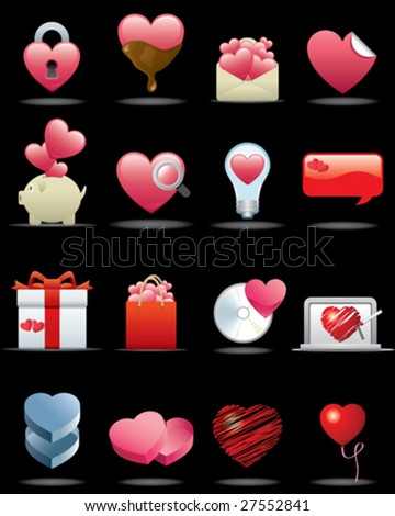 Heart Icon Set -- Premium Series