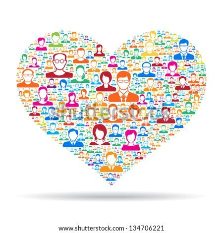 Heart icon,social media concept - stock vector