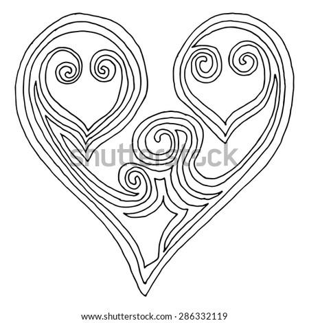Heart illustration - stock vector