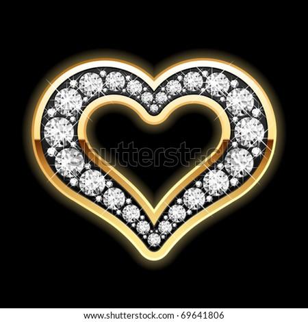 Heart in diamonds. Vector. - stock vector