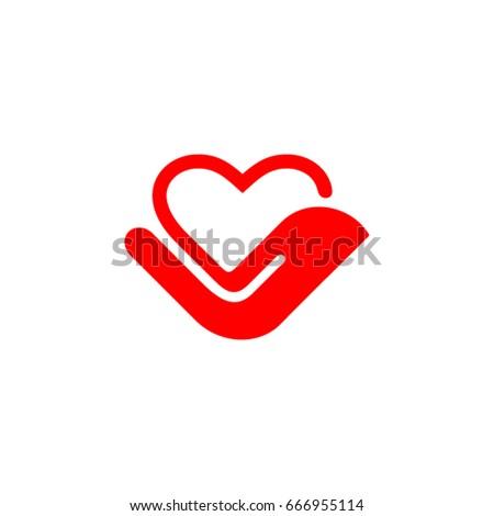 Heart Hand Symbol Stock Vector 2018 666955114 Shutterstock