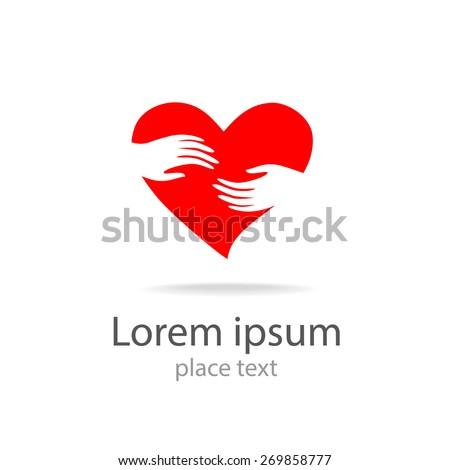 Heart Hands Vector Symbol Template Design Stock Vector 269858777