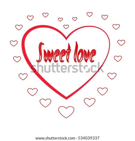 Heart Silhouette Heart Red Sign Quote Stock Photo Photo Vector