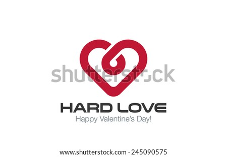 Heart Logo vector design template. Infinite Love concept. Infinity Healthy Heart Cardiology idea Logotype. - stock vector