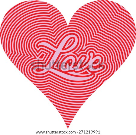 heart love - stock vector