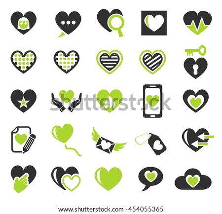 heart love web icons for user interface design