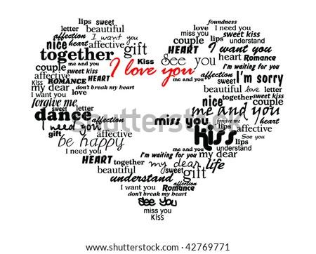 Love Words Images RoyaltyFree Images Vectors – Words of Romance for Romantic Love Letters