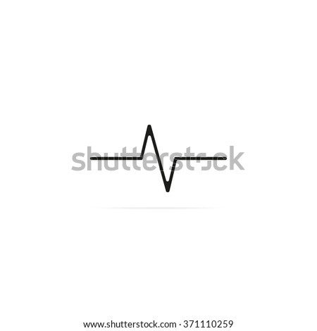Heart monitor pulse line. - stock vector
