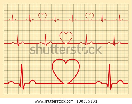 Heart monitor-Vector - stock vector
