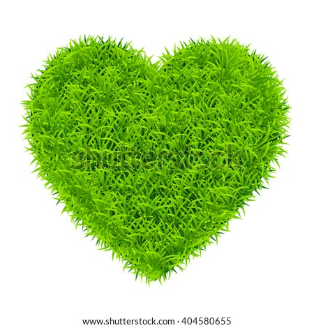 heart of grass - stock vector