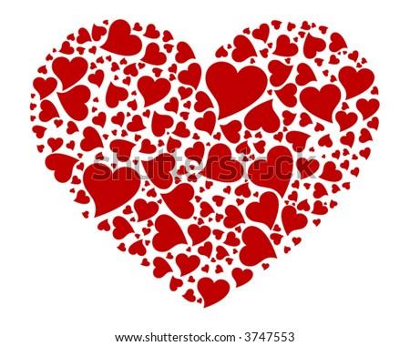 Heart of Hearts - stock vector