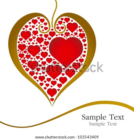 Heart of love on white background