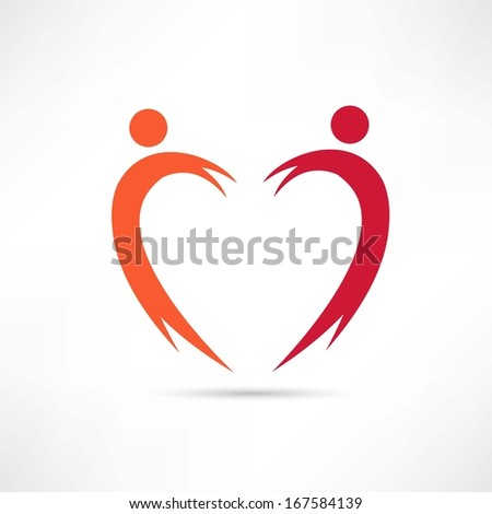 heart of the people icon - stock vector