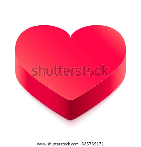 Heart on a white background. Valentine's Day. Vector illustration. - stock vector