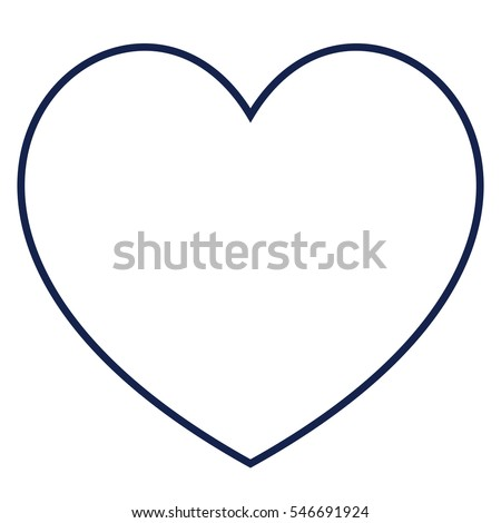 heart outline icon modern minimal flat stock vector 2018 546691924 rh shutterstock com free vector heart outline download vector heart outline illustrator