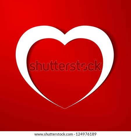 Heart paper background.eps10 - stock vector