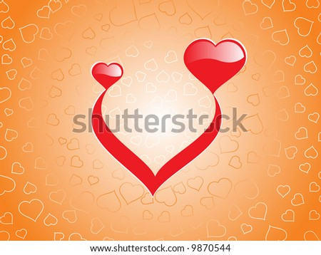 heart pattern background abstract vector illustration - stock vector