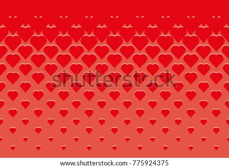 Heart pattern vector background