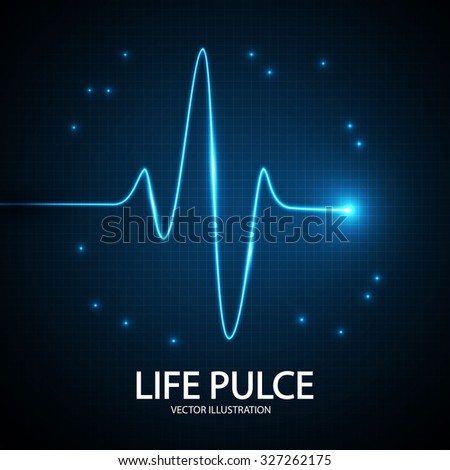 Heart Pulse Background. Vector illustration - stock vector