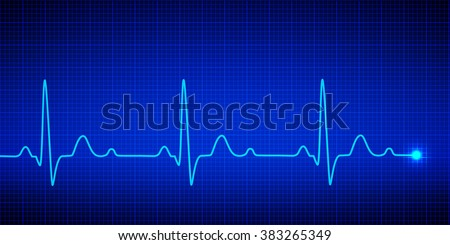 Heart pulse graphic. Vector illustration. - stock vector