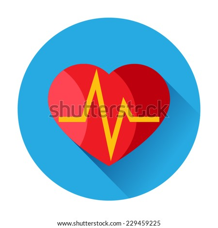 heart pulse icon - stock vector