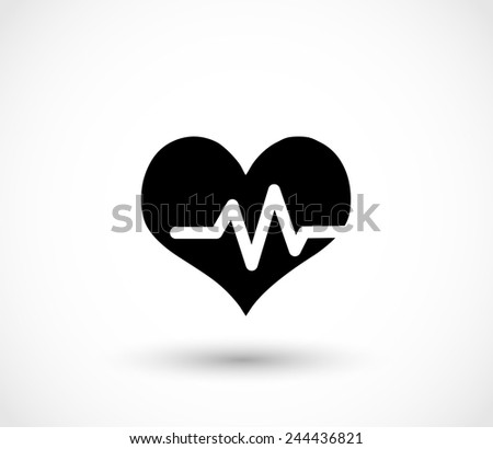 Heart pulse icon vector - stock vector