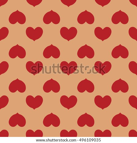 Heart seamless pattern. Fashion graphic background design. Abstract texture. Colorful template for prints, textiles, wrapping, wallpaper, website etc. VECTOR illustration