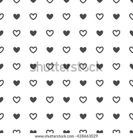 Heart seamless pattern. Heart background.   Isolated heart seamless pattern - stock vector