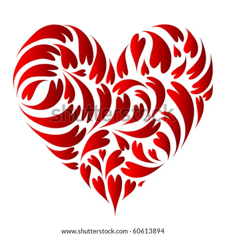 Heart shape design - stock vector
