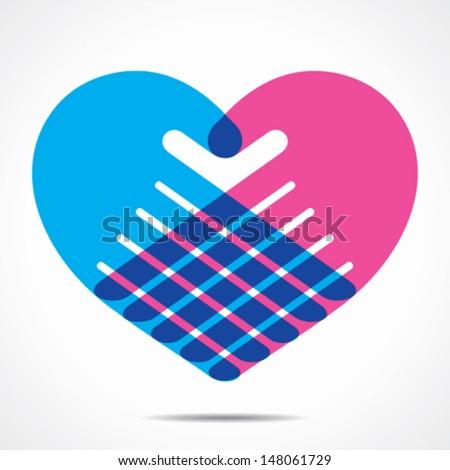 heart shape design for hand stock vector - stock vector