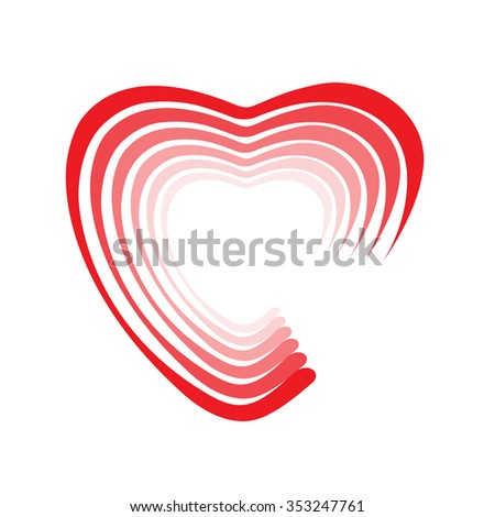 Heart Shape Design Love Symbols Stock Photo Photo Vector