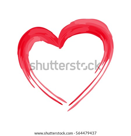 Heart Shape Design Love Symbols Valentines Stock Vector 564479437