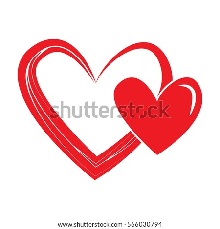 Heart Shape Design Love Symbols Valentines Stock Vector 2018