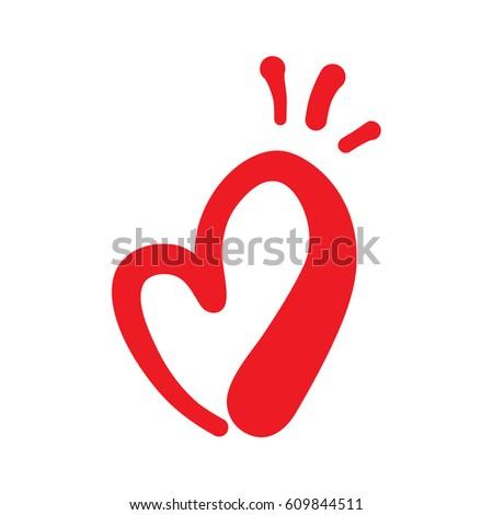 Heart Shape Design Love Symbols Valentines Stock Vector 609844511