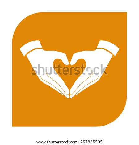 Heart shape made with hands.  - stock vector