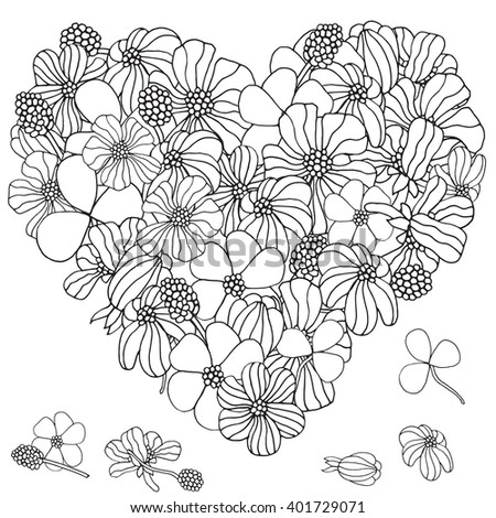 Number Names Worksheets pictures of flowers to trace : Heart Color Stock Photos, Royalty-Free Images & Vectors - Shutterstock