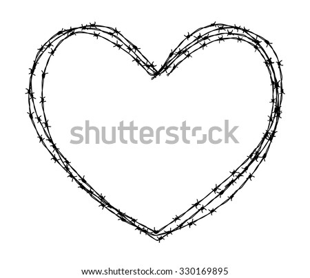 heart shape wire - stock vector
