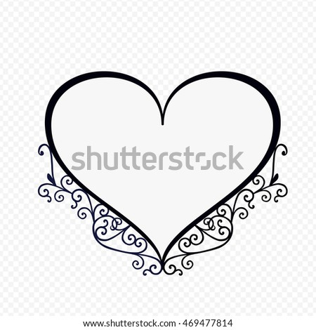 Heart Shaped Frame Vector Stock Vector 469477814 - Shutterstock