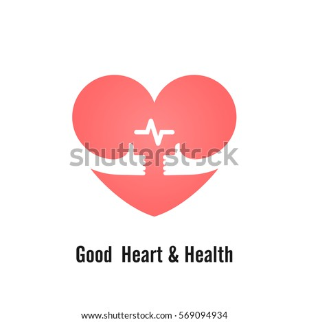 Heart Sign Hands Icon Good Heart Health Stock Vector 569094934