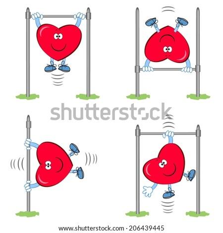 Heart- sportsman - stock vector