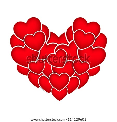 heart stickers - stock vector