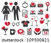 Heart style icons - stock vector