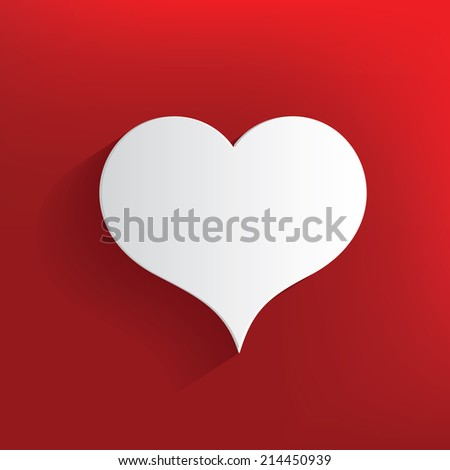Heart symbol on red background,clean vector - stock vector