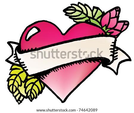 heart tattoo - stock vector