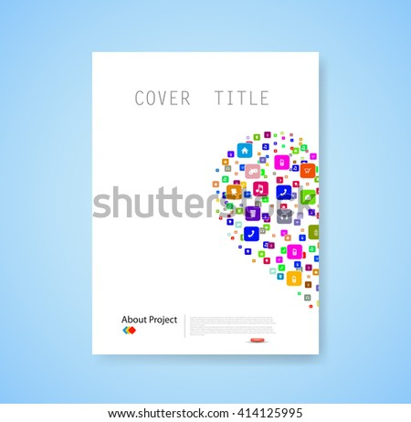 heart template design with social network icons background - stock vector