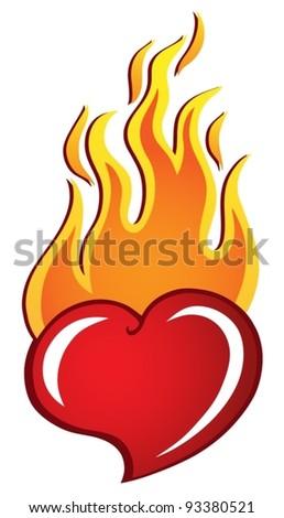 Heart theme image 2 - vector illustration. - stock vector